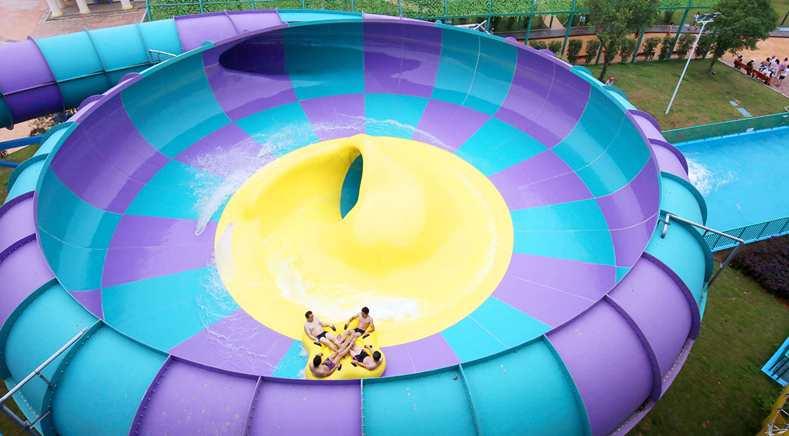 Behemoth space water slide with bowl aqua park construction - Commercial swimming pool water slides ...